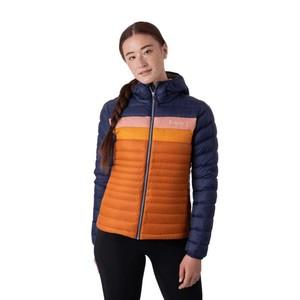 Fuego Down Hooded Jacket Womens Maritime & Mezcal
