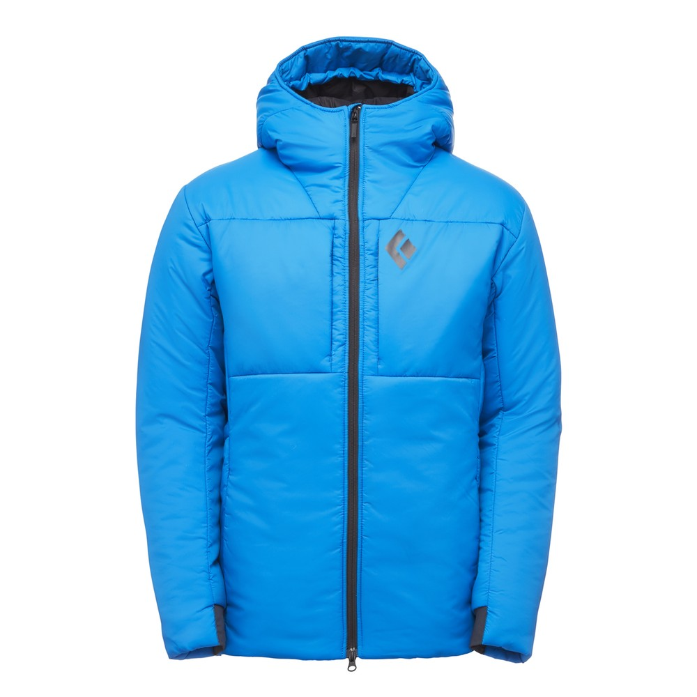 Black Diamond Stance Belay Parka Mens Bluebird
