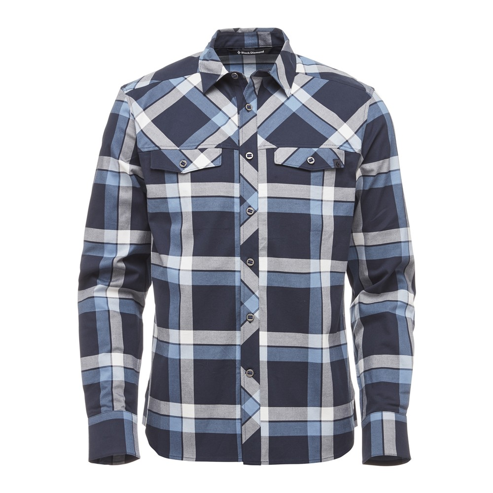 Black Diamond Technician Shirt LS Mens Captain/Blue Steel