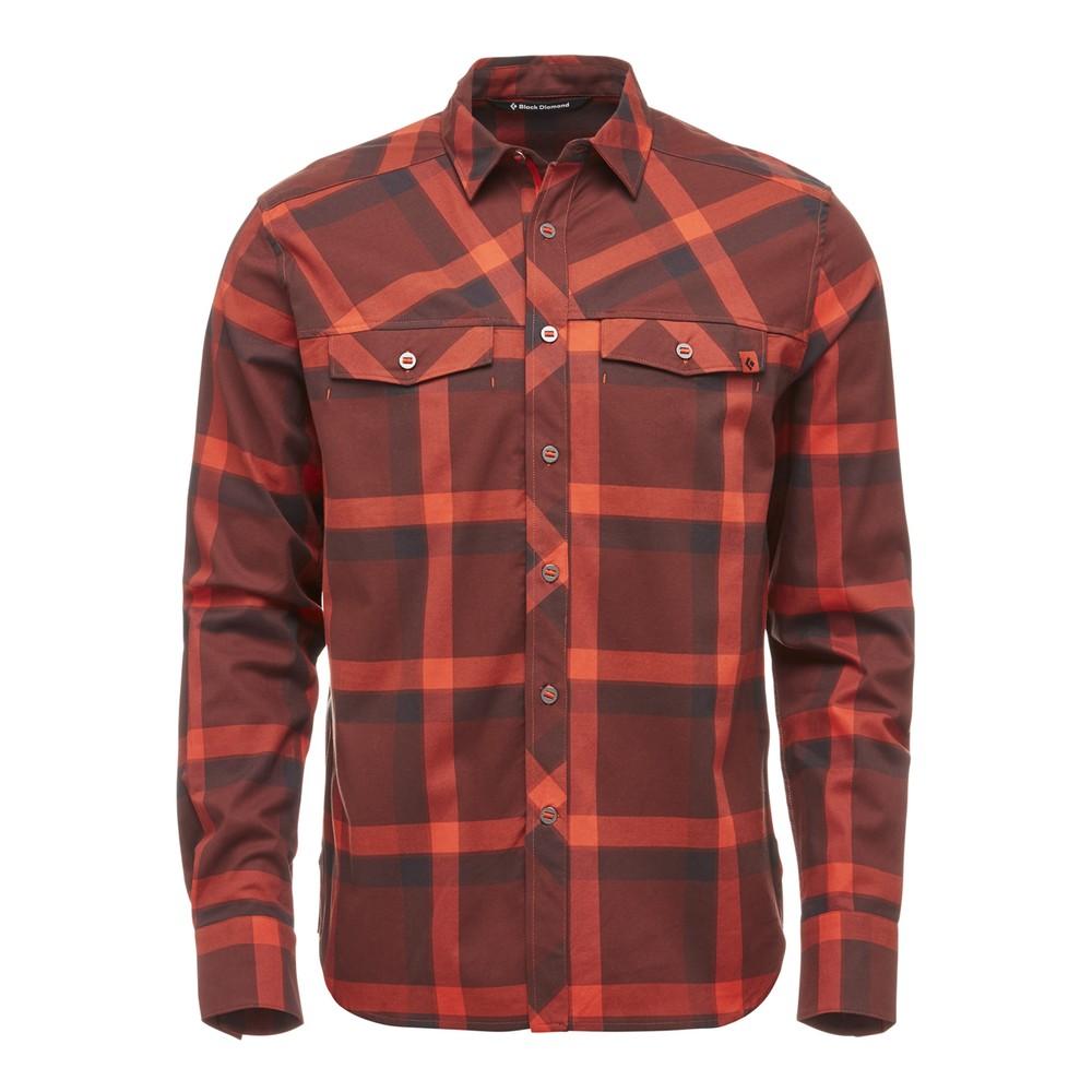 Black Diamond Technician Shirt L/S Mens Rust/Mocha Plaid