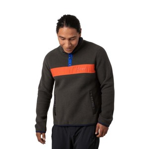 Teca Fleece Qtr Snap Jacket Mens Home Run