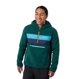 Teca Fleece Hooded Half-Zip Jacket Mens Edamame