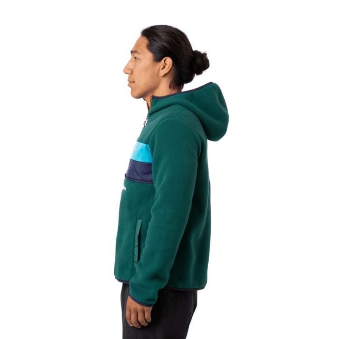 Cotopaxi Teca Fleece Hooded Half-Zip Jacket Mens Edamame