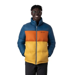 Solazo Down Jacket Mens Indigo & Golden rod