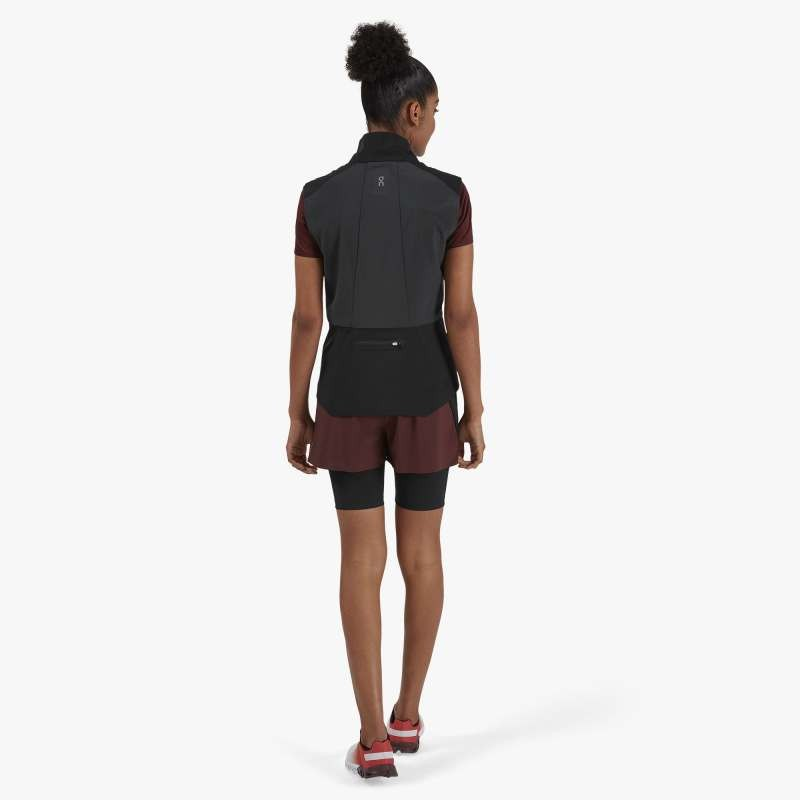 On Running Active Shorts Womens Mulberry/Black
