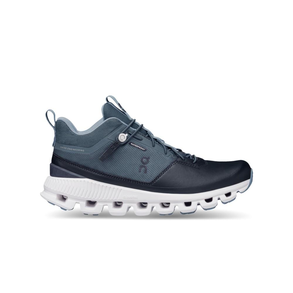 On Running Cloud Hi Waterproof Womens Dust/Navy