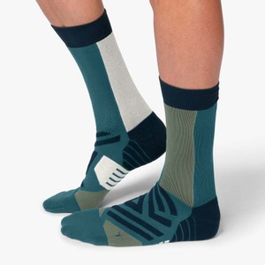 High Sock Mens Storm/Moss