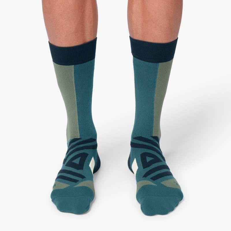 On Running High Sock Mens Storm/Moss