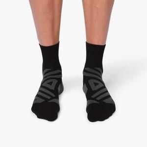 Mid Sock Mens Black/Shadow