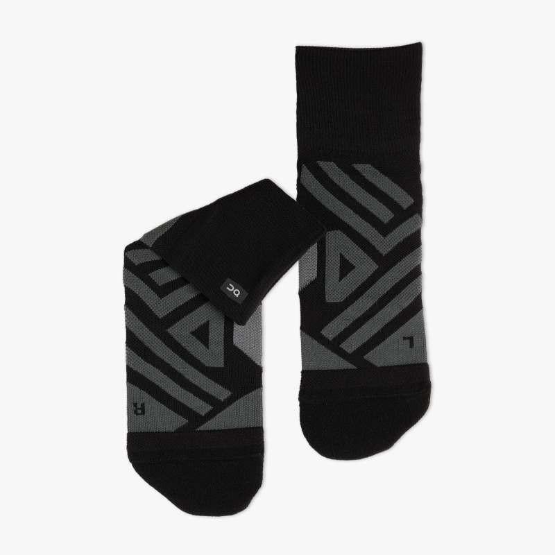 On Running Mid Sock Mens Black/Shadow
