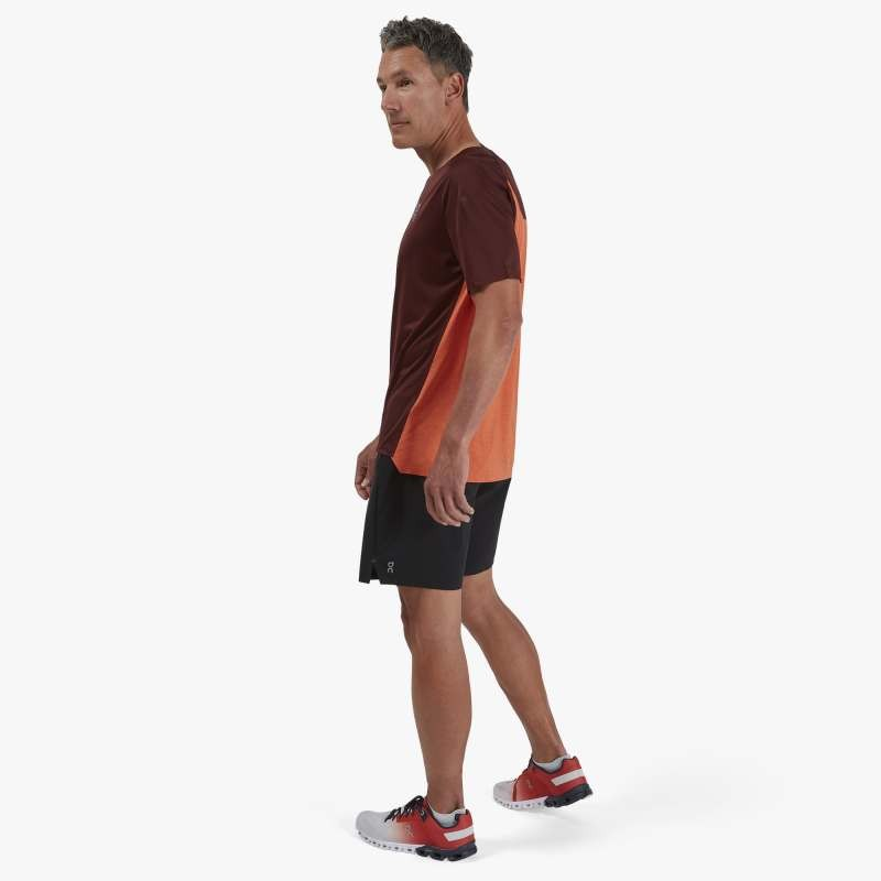 On Running Performance T Mens Mulberry/Spice