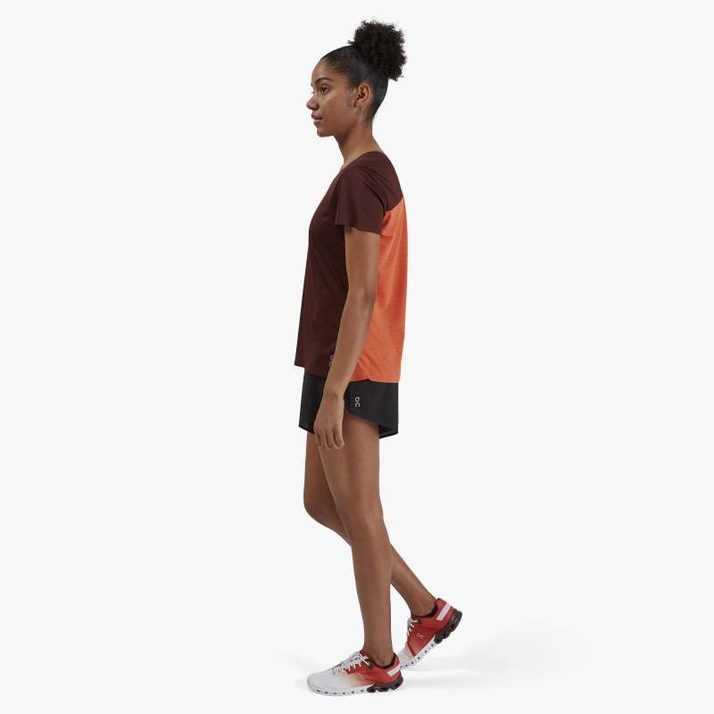On Running Performance T Womens Mulberry/Spice