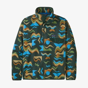 Patagonia LW Synchilla Snap-T Pullover Mens in Arctic Collage:Northern Green