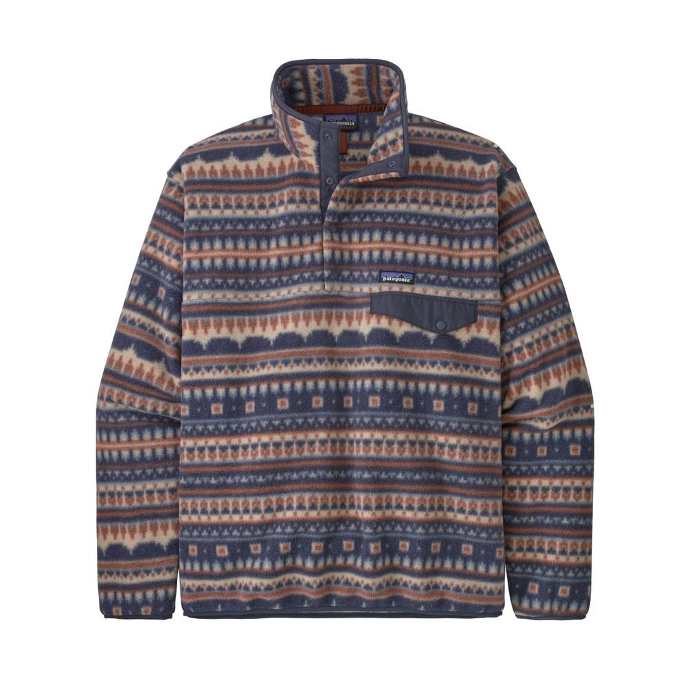 Patagonia LW Synchilla Snap-T Pullover Mens Cottage Isle:El Cap Khaki