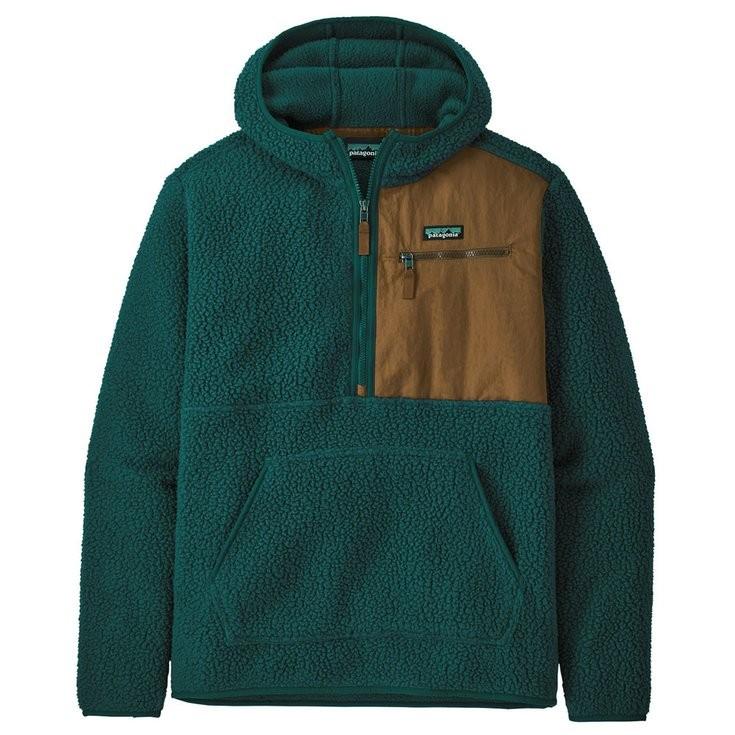 Patagonia Retro Pile Pullover Mens Dark Borealis Green