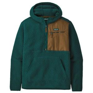 Retro Pile Pullover Mens Dark Borealis Green