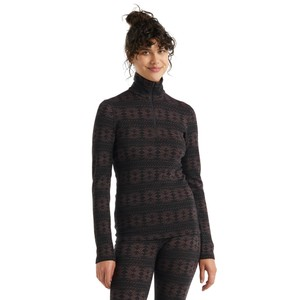 Icebreaker Vertex 250 LS Half Zip Crystalline Womens in Black/Mink