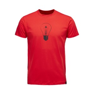 Black Diamond BD Idea SS Tee Mens in Hyper Red
