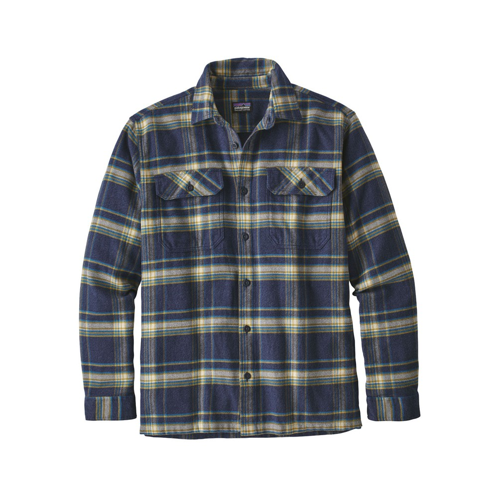 Patagonia LS Fjord Flannel Shirt Mens Activist:Navy Blue