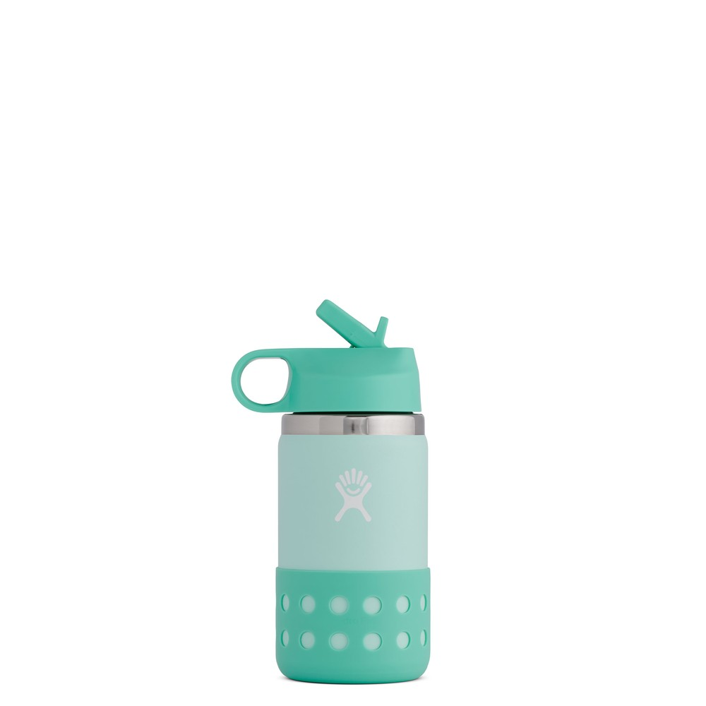 Hydro Flask 12oz Kids Wide Mouth Straw Lid & Boot Paradise