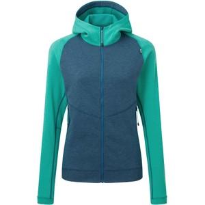 Fornax Hooded Jacket Womens Majolica/Deep Green