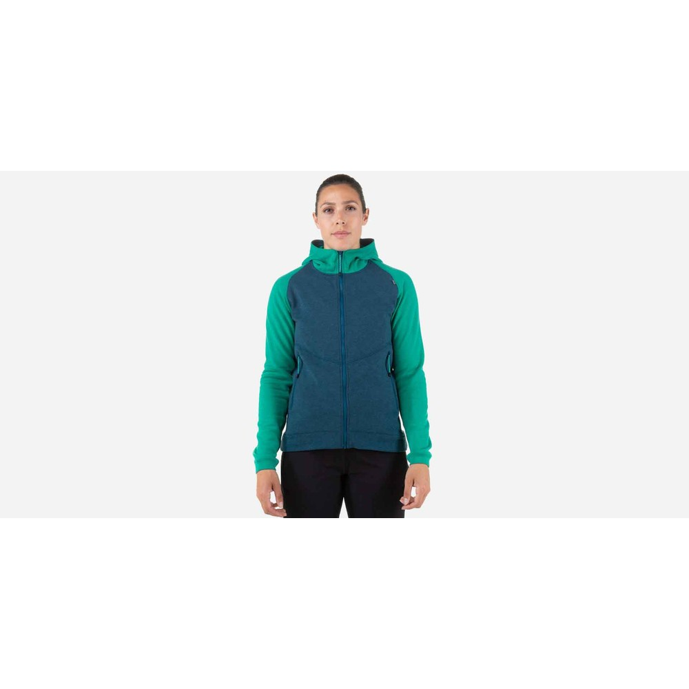 Mountain Equipment Fornax Hooded Jacket Womens Majolica/Deep Green