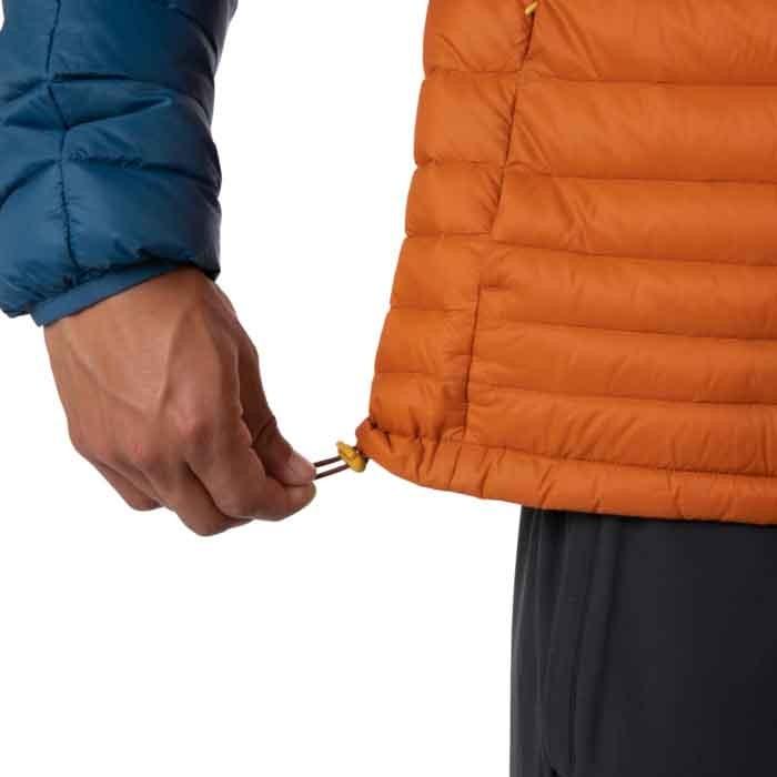 Cotopaxi Fuego Down Hooded Jacket Mens Indigo & Mezcal