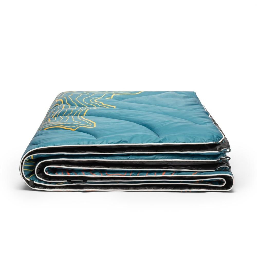 Rumpl Original Puffy Blanket Mt Rainier - Teal Warm Fade