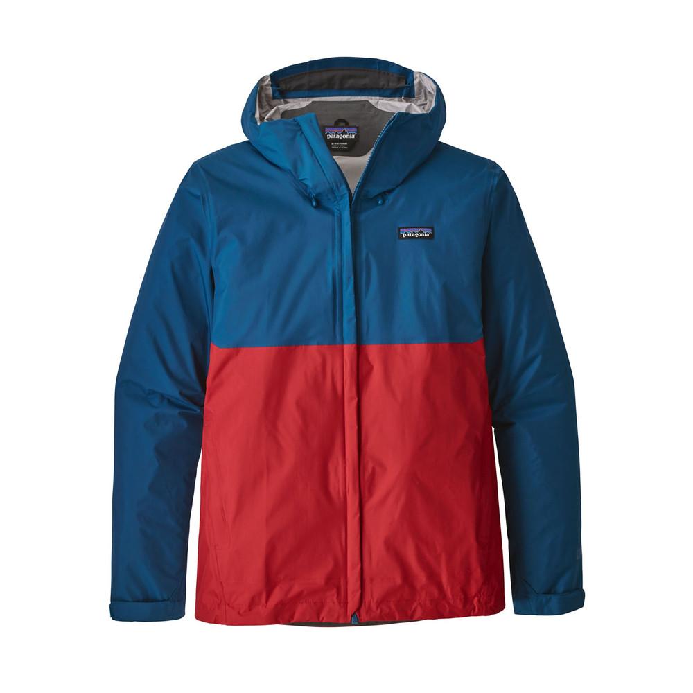 Patagonia Torrentshell Jacket Mens Big Sur Blue/Fire Red