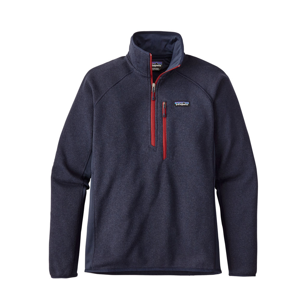 Patagonia Performance BS Qtr Zip Mens Navy Blue