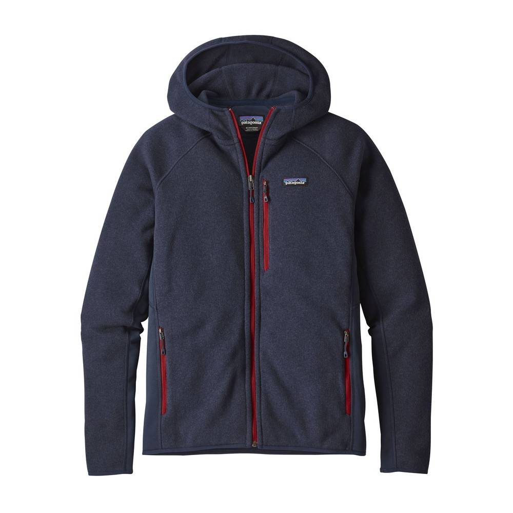 Patagonia Performance Better Sweater Hoody Mens Navy Blue