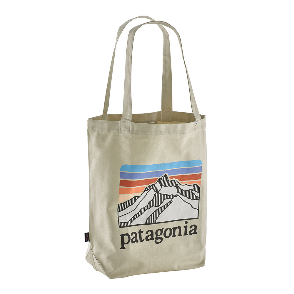 Patagonia Market Tote Line Logo:Bleached Stone