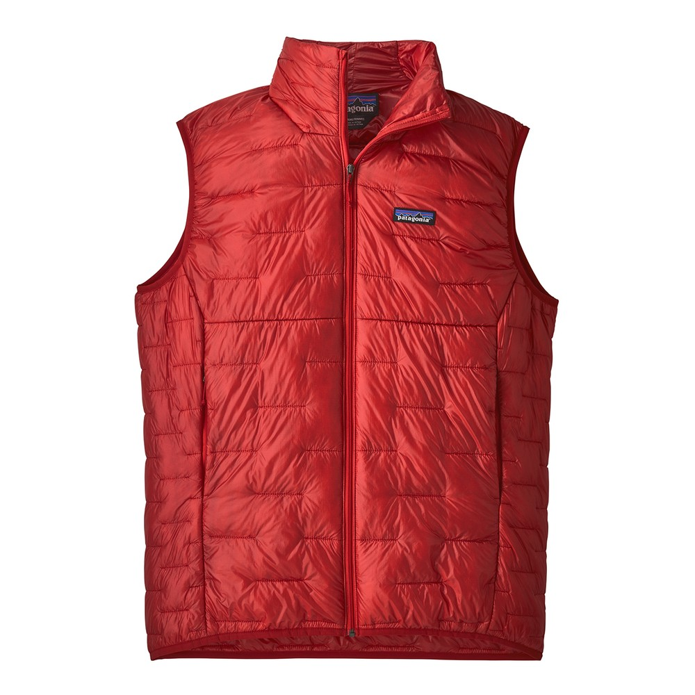Patagonia Micro Puff Vest Mens Fire