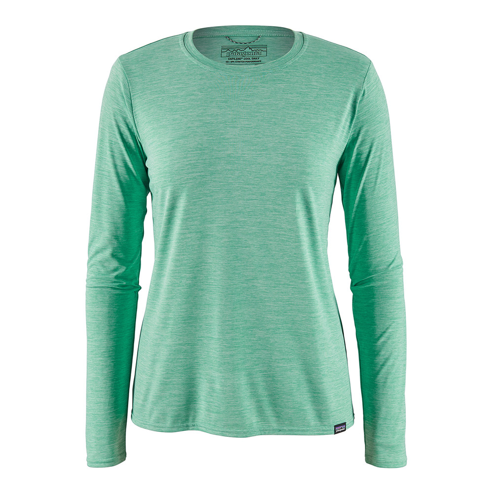 Patagonia LS Cap Cool Daily Shirt Womens Vjosa Green/Light Vjosa Green