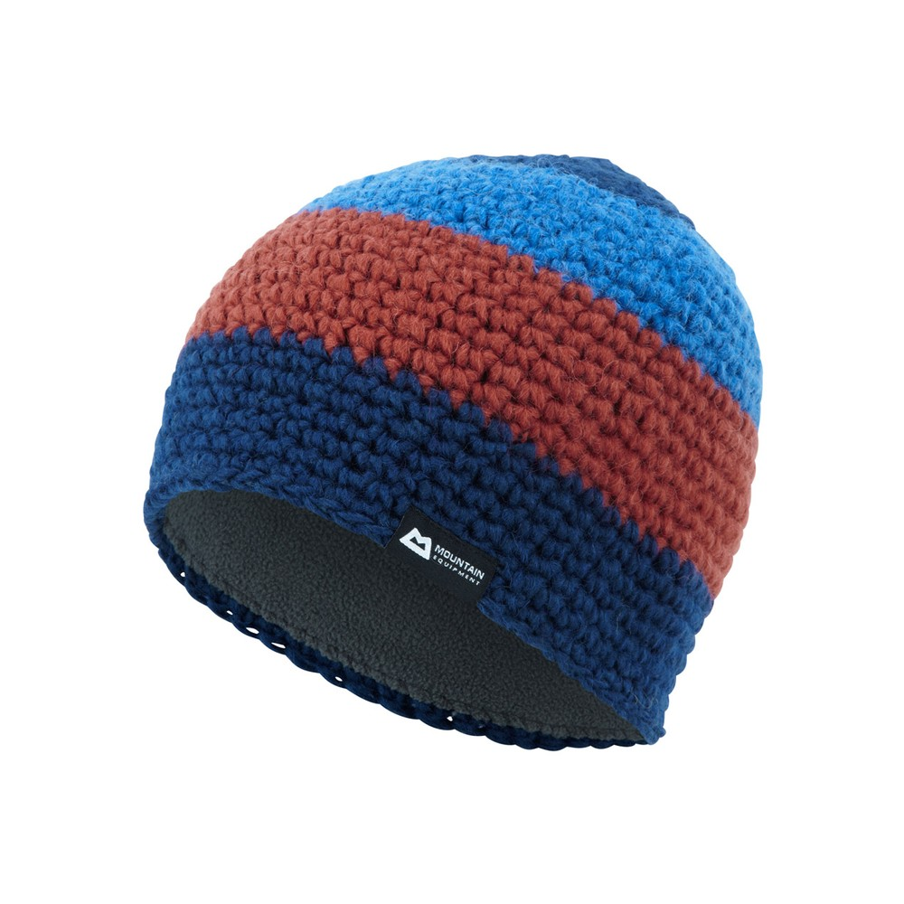 Mountain Equipment Flash Beanie Navy/Lt Ocean/Henna
