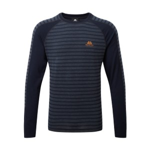 Mountain Equipment Redline LS Tee Mens in Cosmos Stripe/Cosmos
