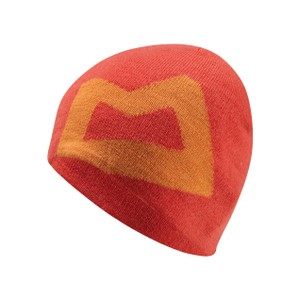 Mountain Equipment Brand Knitted Beanie Mens in Cardinal/Russet