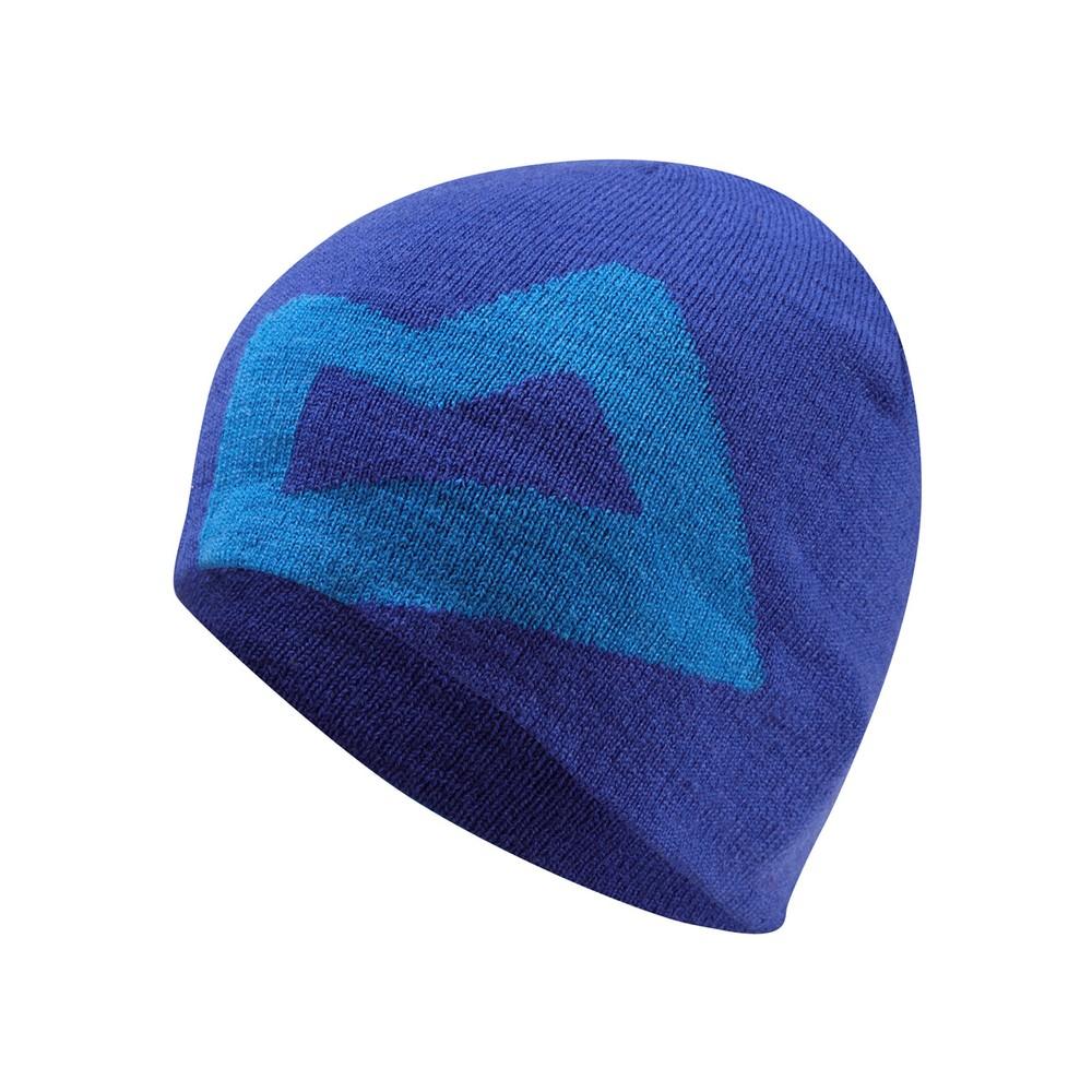 Mountain Equipment Brand Knitted Beanie Mens Sodalite/Lt Ocean