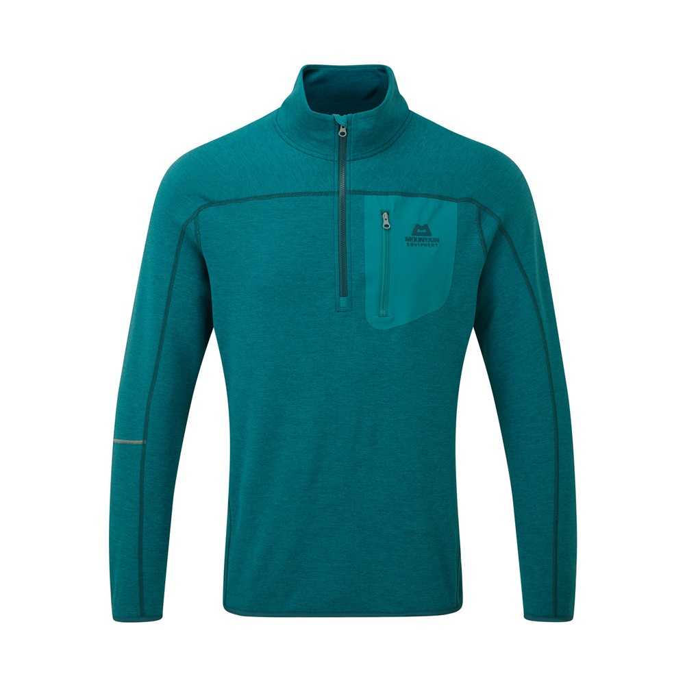 Mountain Equipment Integrity Zip Tee Mens Tasman Blue