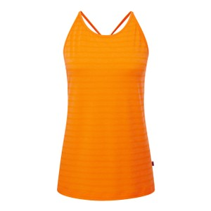 Mountain Equipment Rio Vest Womens in Orange Sherbet Stripe