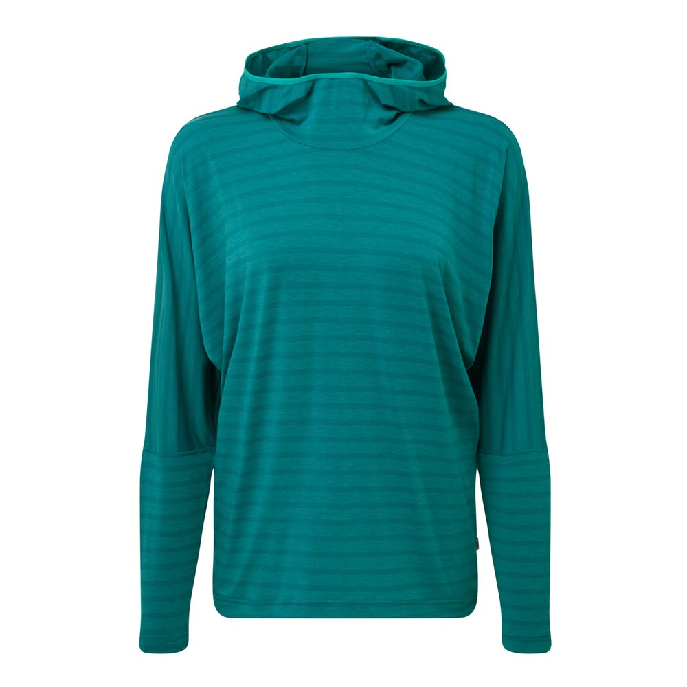 Mountain Equipment Groundup Hoody Womens Tasman Blue Stripe