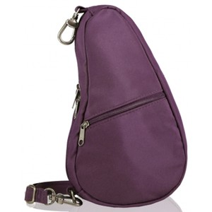 Healthy Back Bag Microfibre Baglett in Black Plum