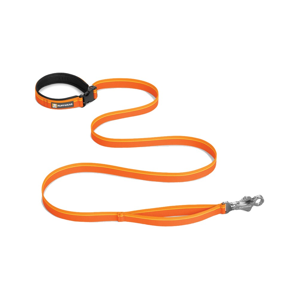 Ruffwear Flat Out Leash Orange Sunset