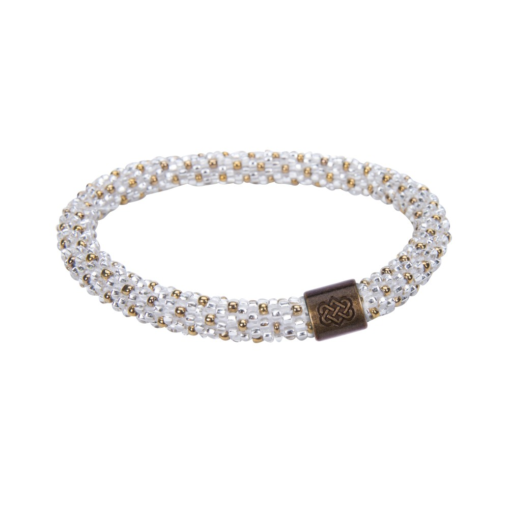 Sherpa Mayalu Polka Dot Roll On Bracelet Katha White