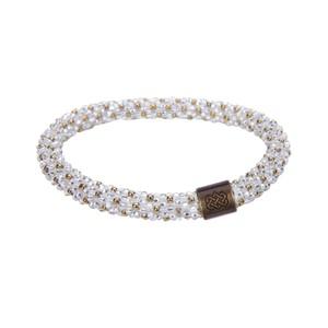 Sherpa Mayalu Polka Dot Roll On Bracelet in Katha White