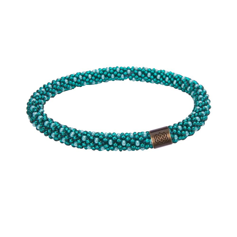 Sherpa Mayalu Polka Dot Roll On Bracelet Rathna green