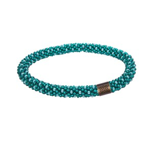 Sherpa Mayalu Polka Dot Roll On Bracelet in Rathna green