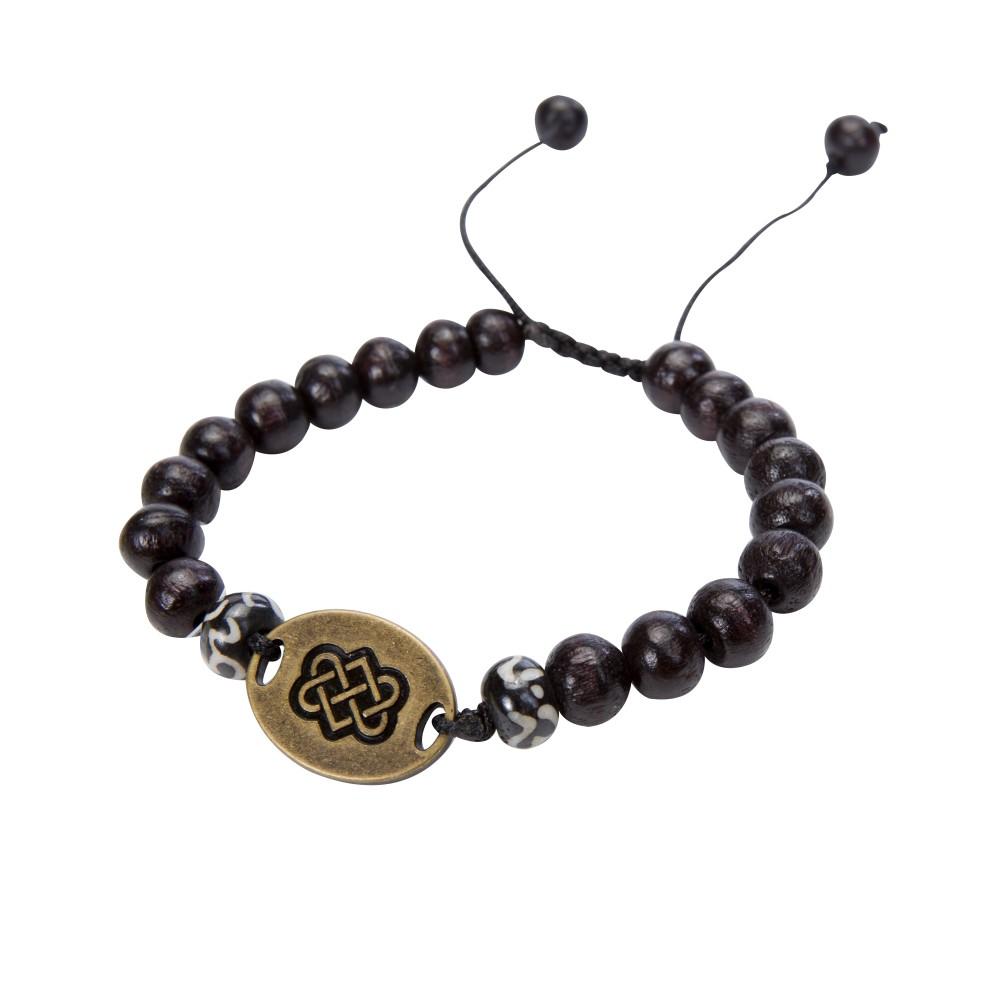 Sherpa Mala Endless Knot Bracelet Black