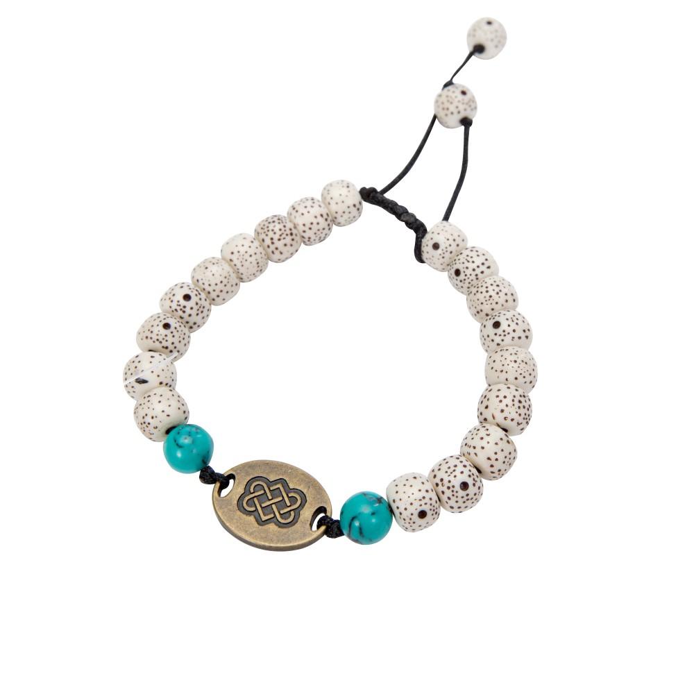 Sherpa Mala Endless Knot Bracelet Katha White