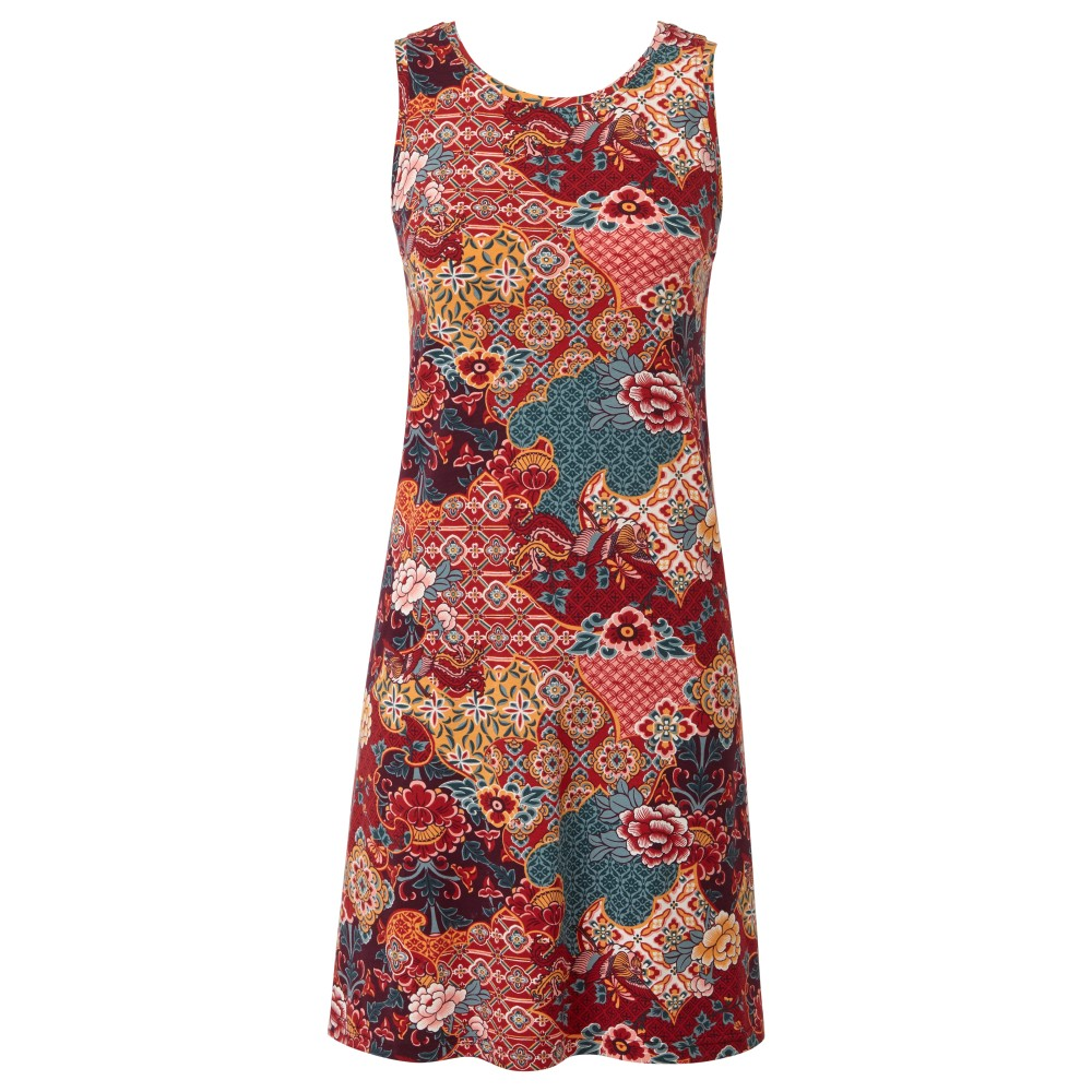 Sherpa Padma Dress Womens Ani Tibetan Print
